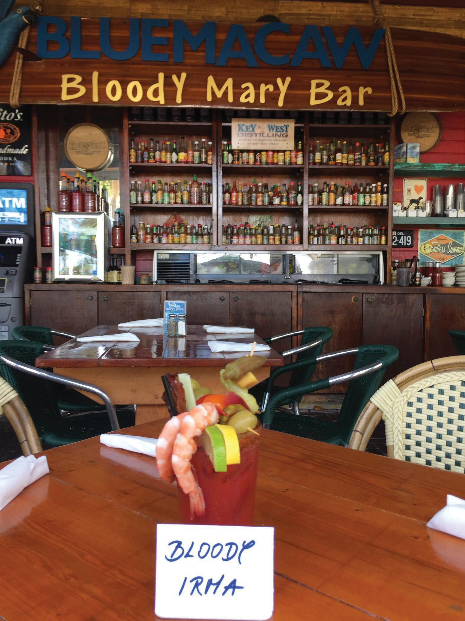 The Blue Macaw is featuring the Bloody Irma. COURTESY PHOTO