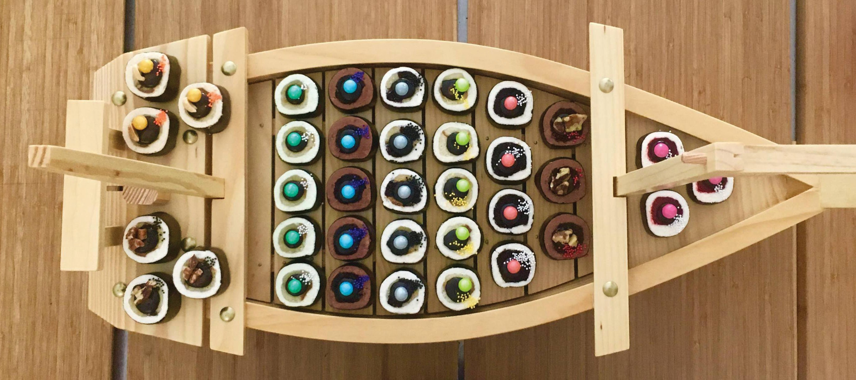 """Key West's own Cupcake Sushi is precisely what it sounds like — delectable, colorful """"sushi"""" rolls made of cake and frosting. COURTESY PHOTOS"""