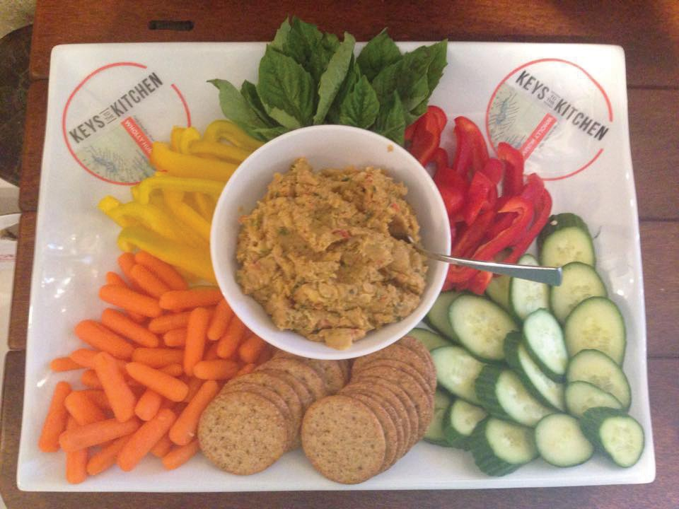 The artisanal hummus made by Keys to the Kitchen is the island's savory snack of choice. COURTESY PHOTO