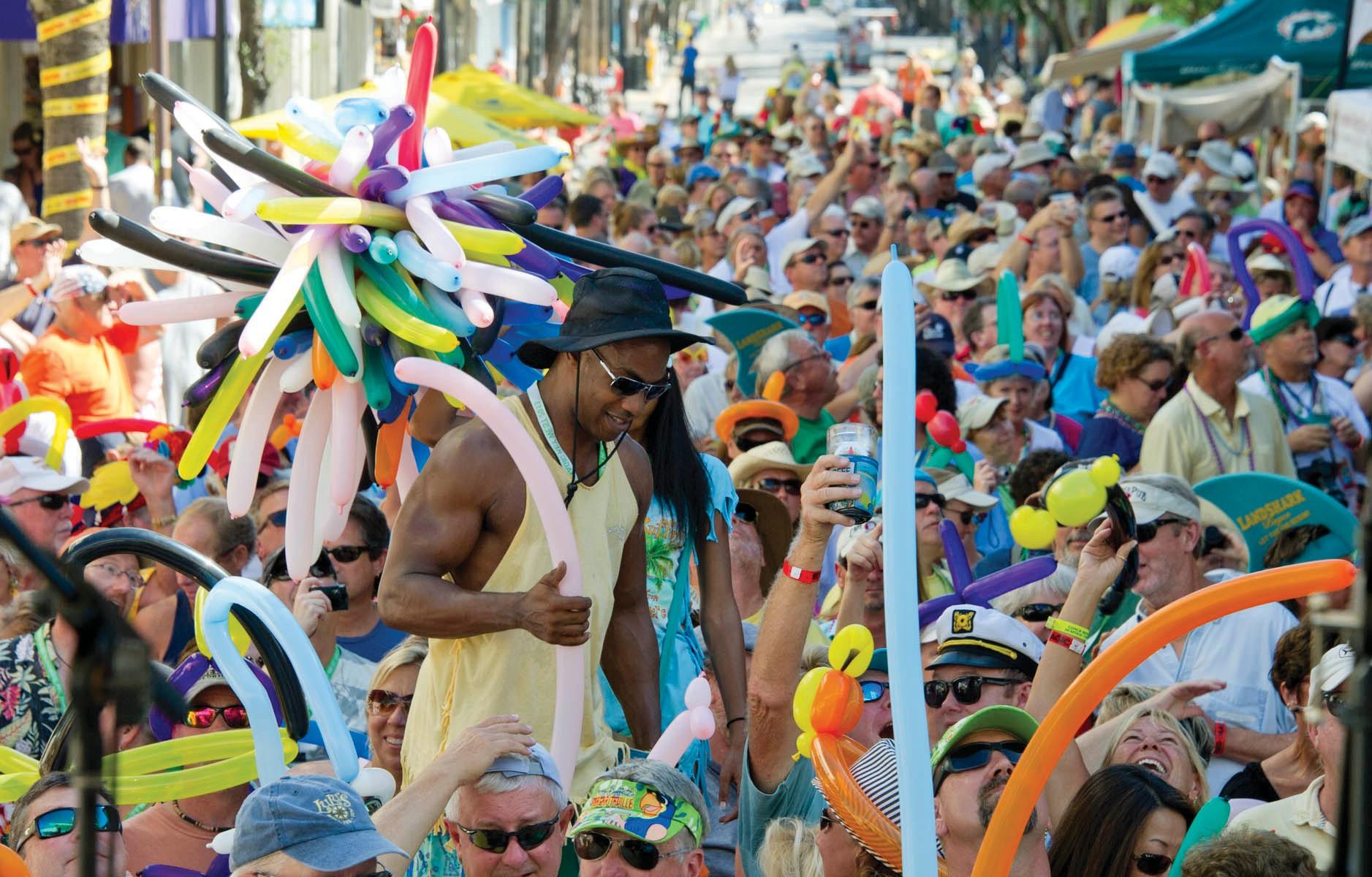 Parrot Head revelry on Duval Street. ANDREW TALBERT / COURTESY PHOTO