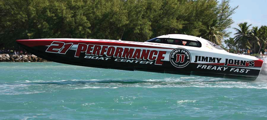 The Jimmy John's team races past Fort Zachary Taylor.