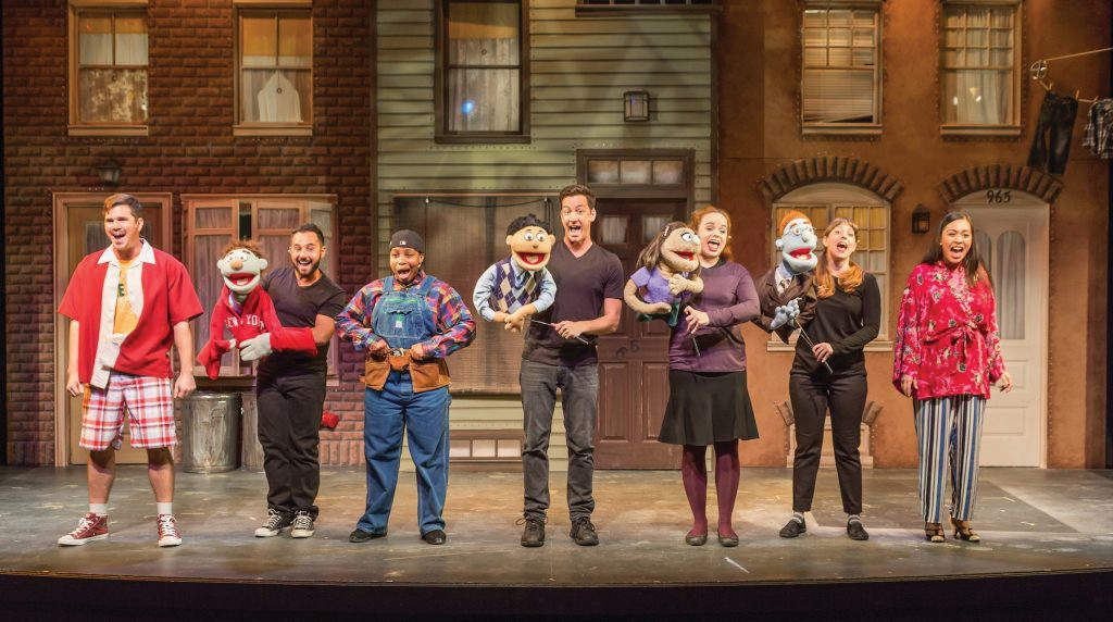 The cast of the very popular Avenue Q.
