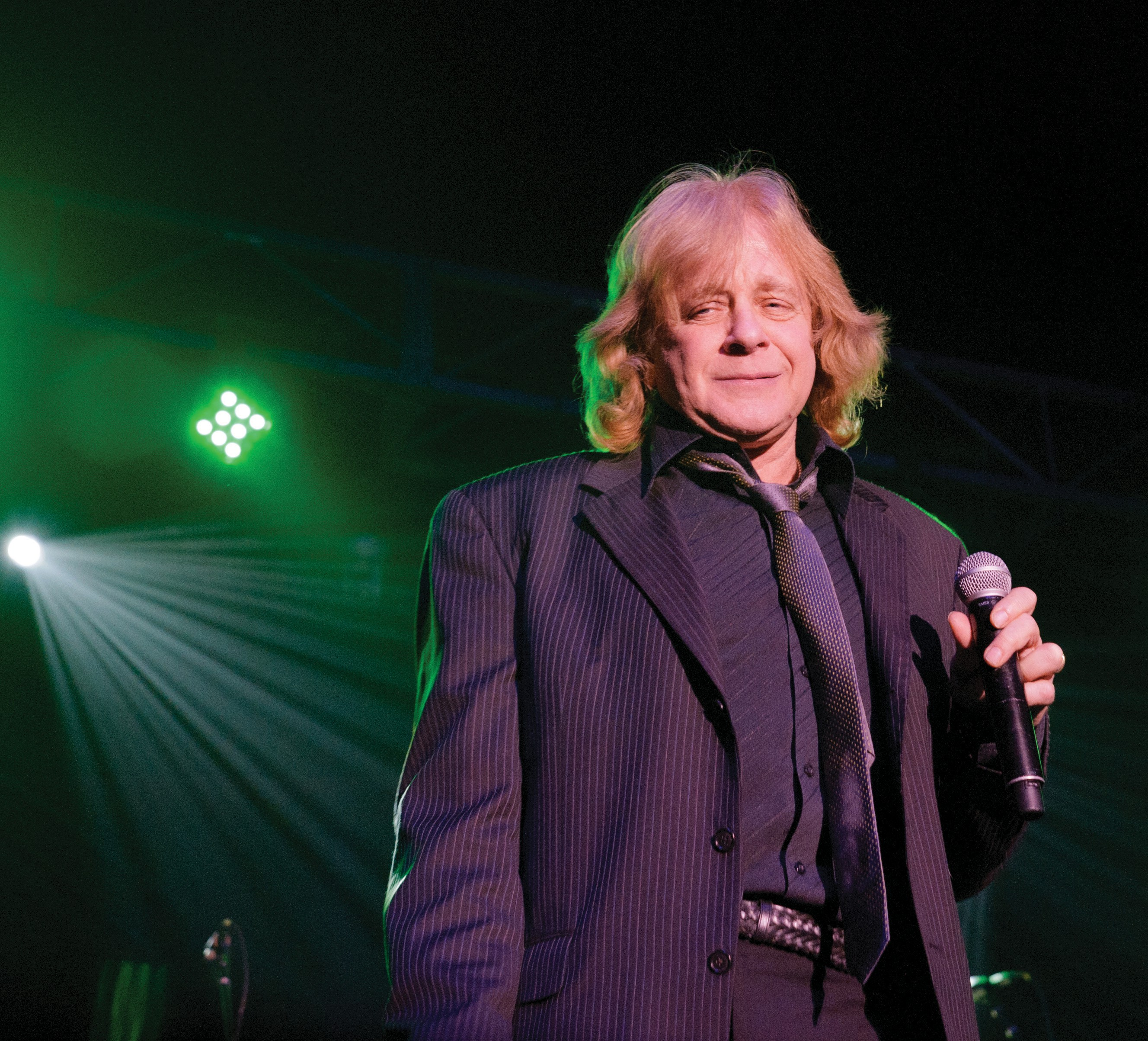 """Eddie Money performing in """"Jingle Bell Rock"""" with Mickey Thomas at Thunder Valley Casino Resort in Lincoln, CA on Dec. 15, 2011. RANDY MIRAMONTEZ / SHUTTERSTOCK"""