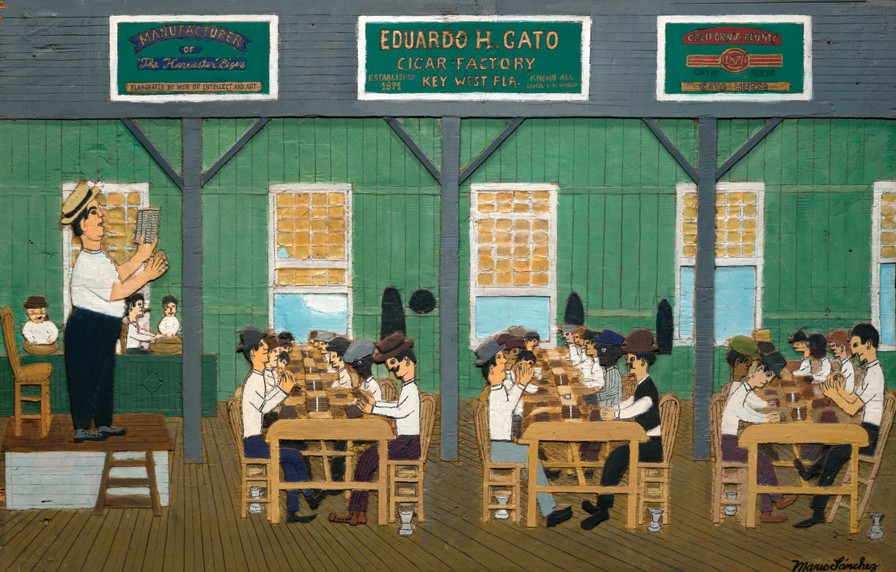 """Gato Cigar Factory"" by Mario Sanchez, on display at Gallery on Green. COURTESY PHOTO"