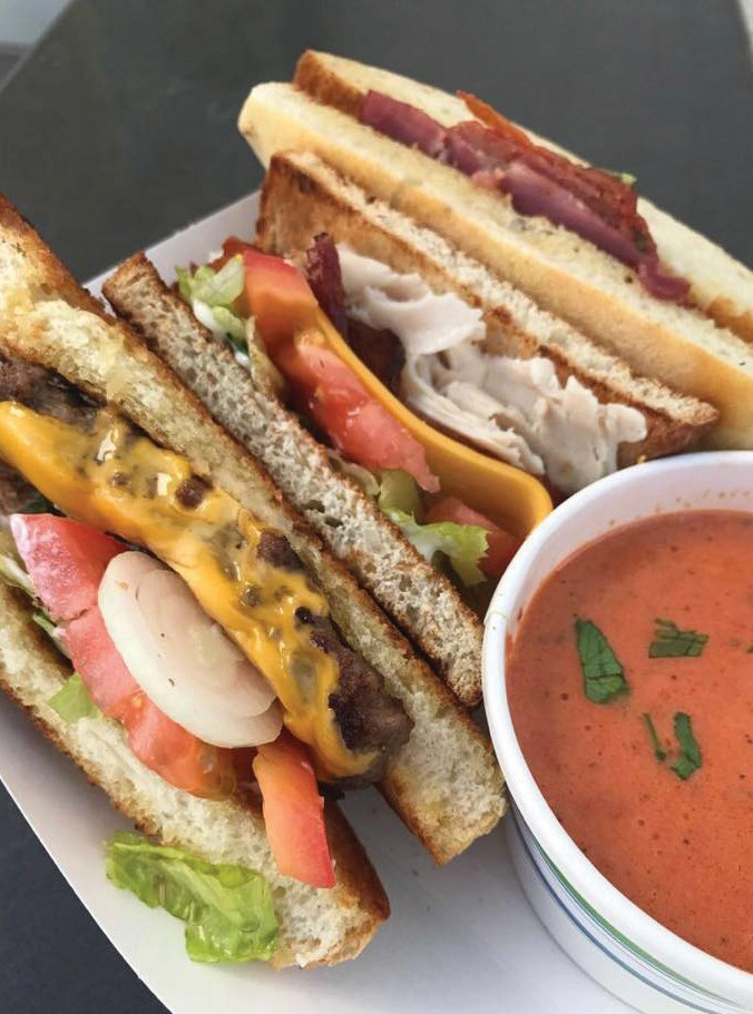A trio of sandwiches and tomato soup at Mary Ellen's. COURTESY PHOTOS
