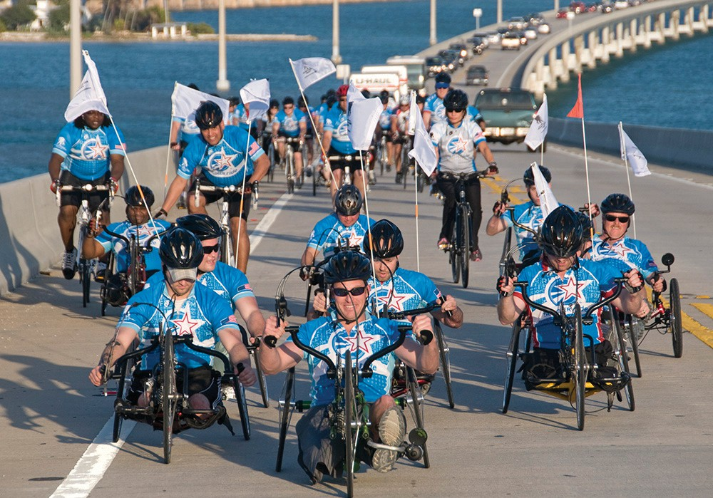 The nonprofit veterans' service organization Wounded Warrior Project will return to Key West for its annual Soldier Ride on Saturday, Jan. 6. COURTESY PHOTO