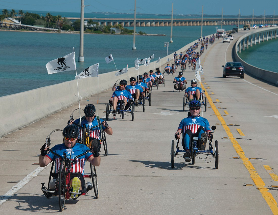 Key West, which boasts a sizable military population, looks forward to its annual community ride with the Would Warrior Project since the program's inception 13 years ago. COURTESY PHOTO