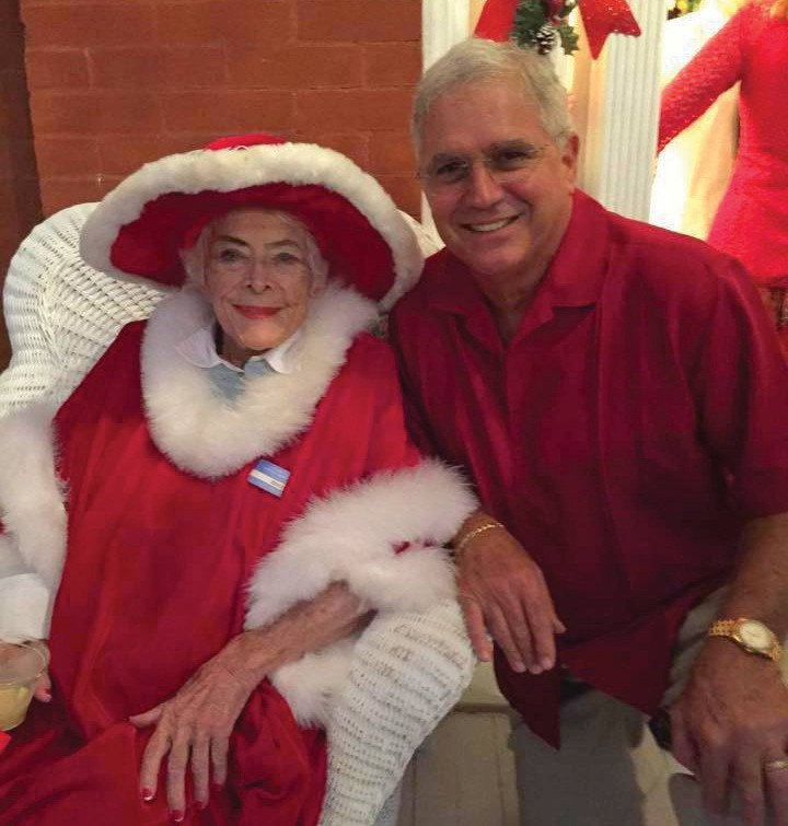 The late Edith Amsterdam with Key West Mayor Craig Cates.