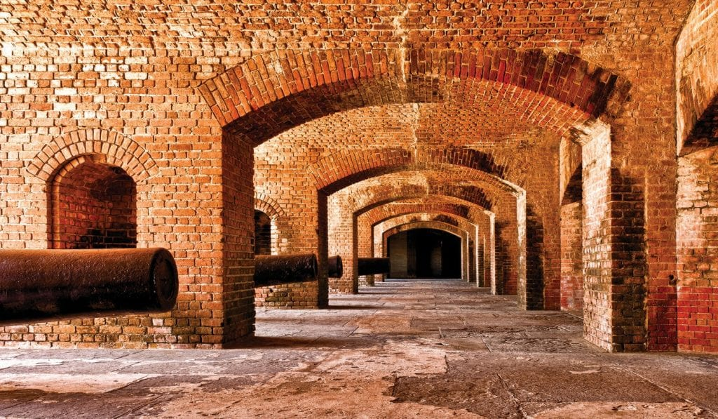 The interior of Fort Zachary Taylor. COURTESY PHOTO