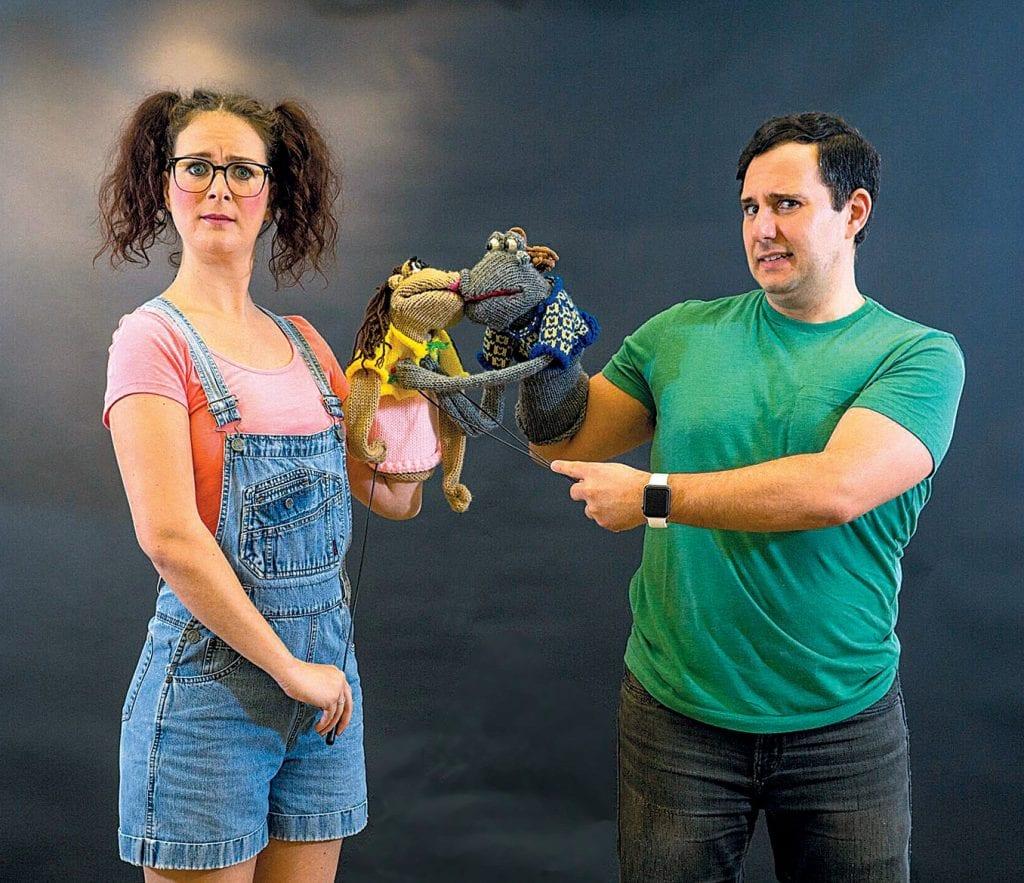 """Jessica Miano Kruel and Jeremy Zoma in """"Hand to God."""" COURTESY PHOTOS"""