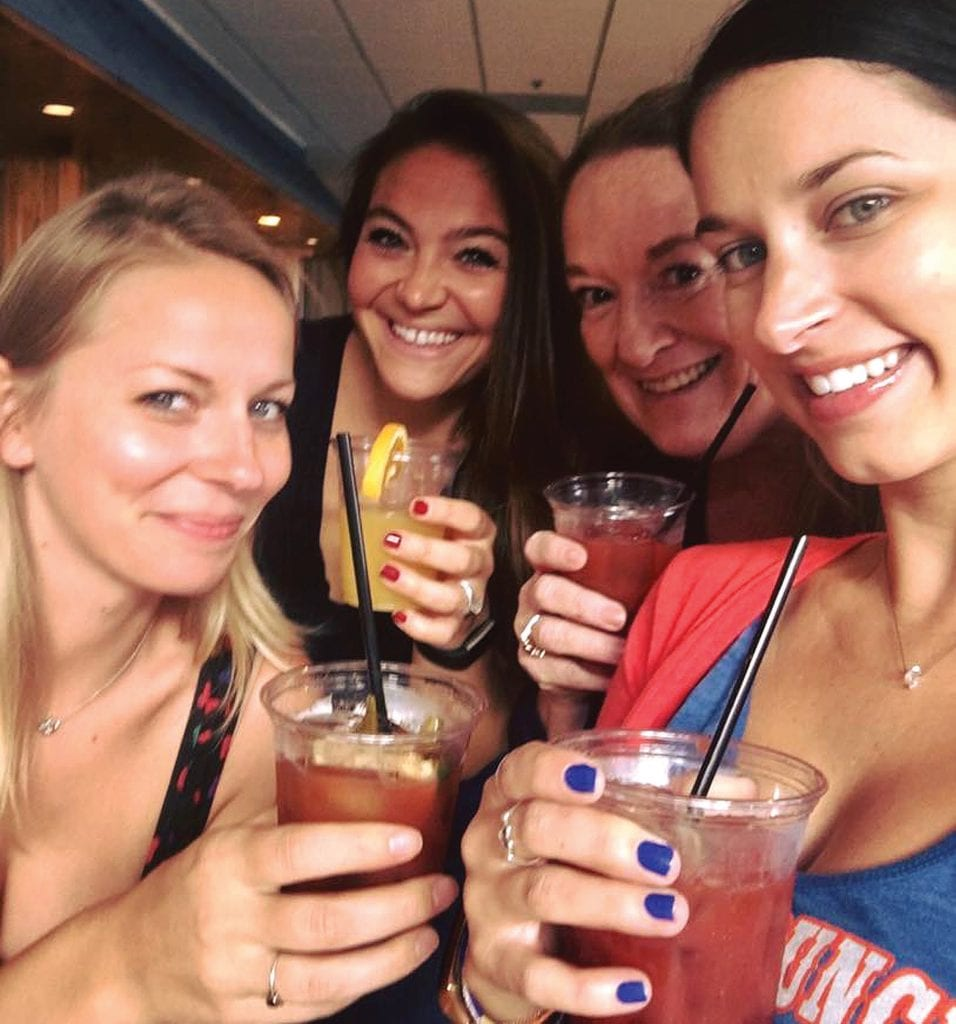 Locals Renae St. Peter, Laura Richardson, Elizabeth Weinstock and Livi Shultz enjoying a girls night out. COURTESY PHOTOS