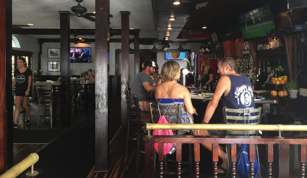 The newly revamped interior of Old Town Tavern also includes an outdoor courtyard that is great for people watching