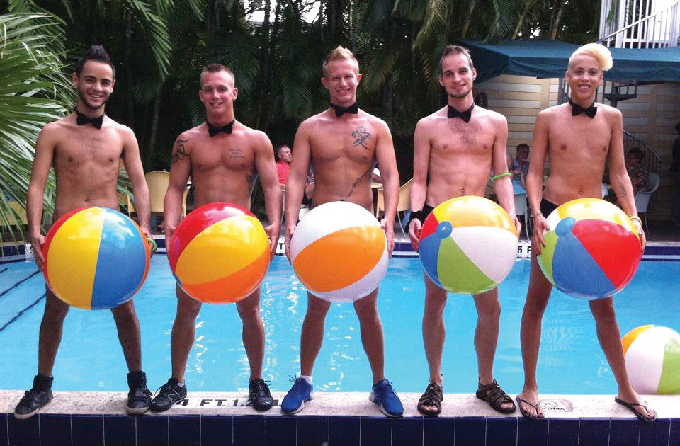 The Island House hosts an annual Pride pool party. COURTESY PHOTO