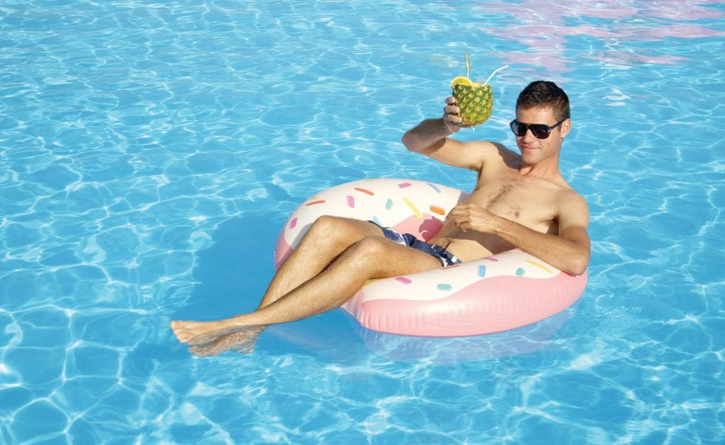 Be sure to plan time to cool off in the pool with a cold drink. COURTESY PHOTOS