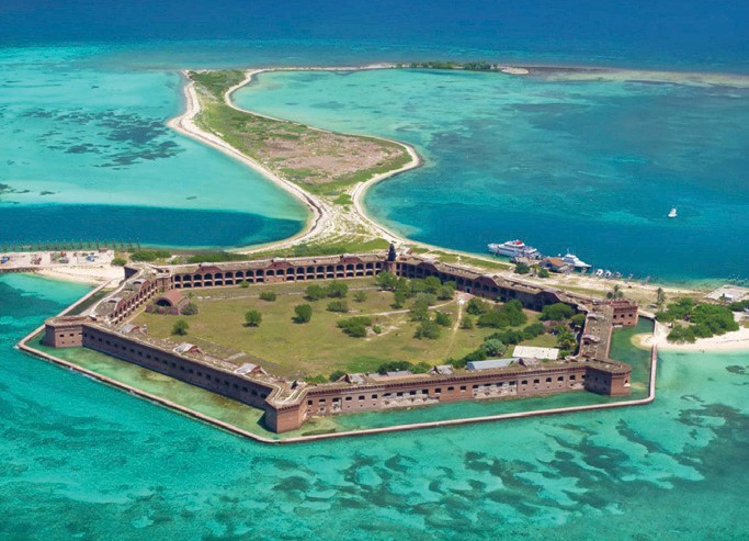 Aerial view of Fort Jefferson. COURTESY PHOTO