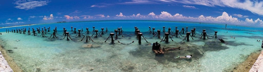 The remains of an old pier at Fort Jefferson. COURTESY PHOTO