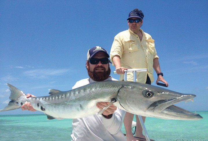 Above: A barracuda caught in a Cudjoe Key channel. Right: A grouper caught at the Marqesas Keys. FISHING BOOKER / COURTESY PHOTOS