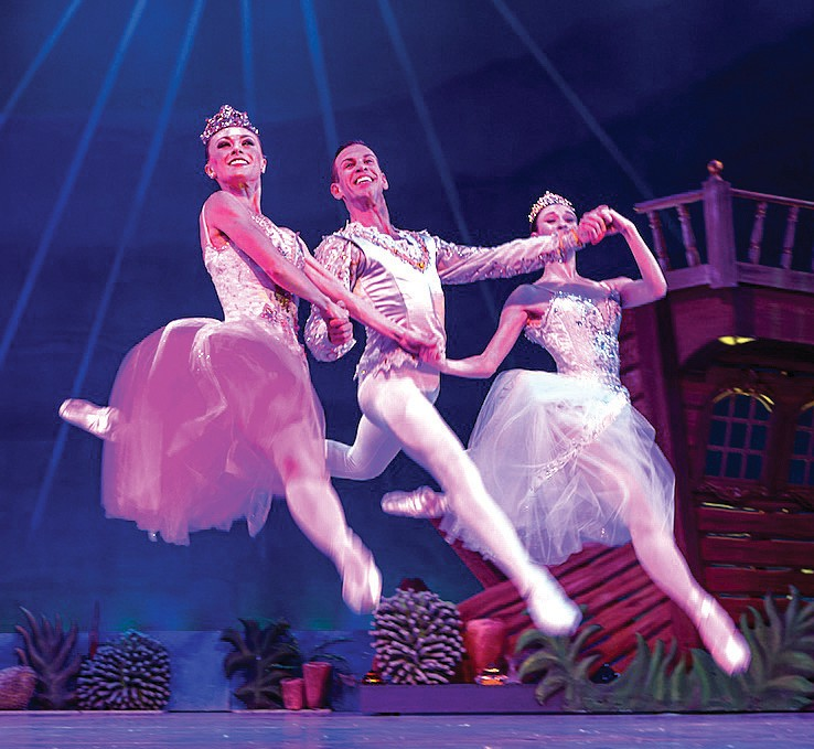 Dancers in th Nutcracker leap off the stage. COURTESY PHOTO