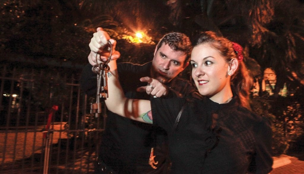 Key West is consistently ranked as one of the most haunted cities in the United States. Come enjoy an interactive tour featuring unusual and entertaining guides on the Ghost Tours and Ghost Hunts, nightly, at 301 Whitehead St. and 1102 Duval St. 305-395-1435 or www.hauntedkeywest.com.
