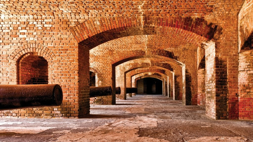 Above: The interior of Fort Zachary Taylor. COURTESY PHOTOS