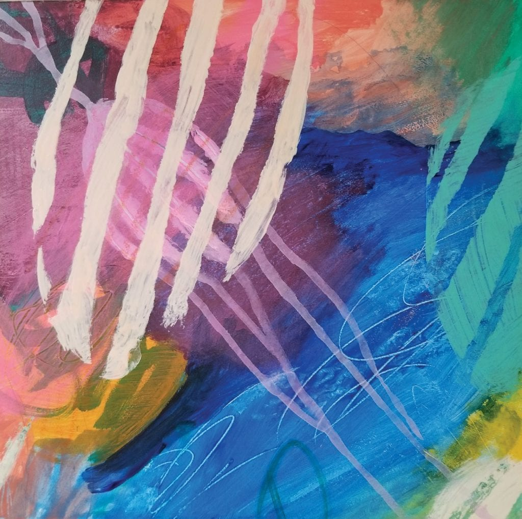 A characteristically vibrant piece by local artist Jill Caldwell. COURTESY PHOTO