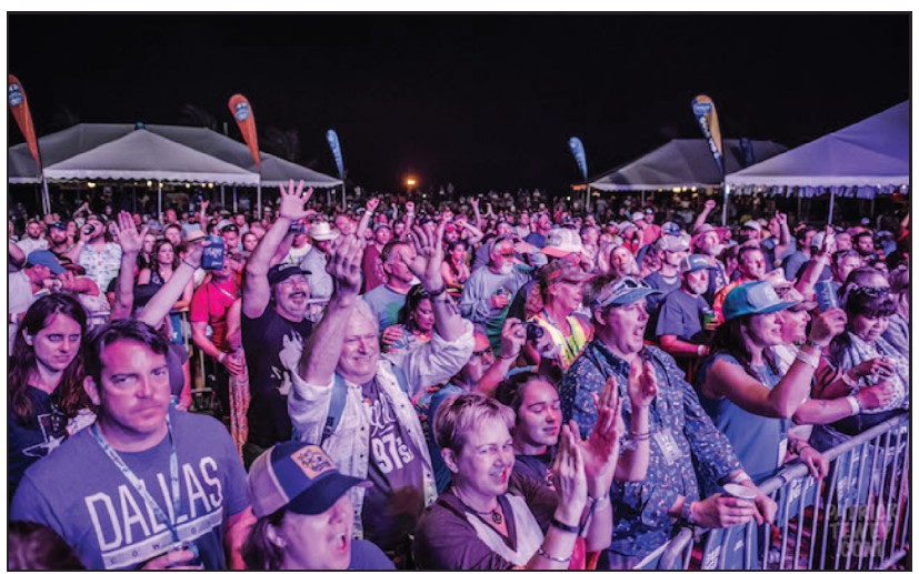 A shot of the crowd rocking out to Red Dirt at last year's festival. MILE0FEST.COM
