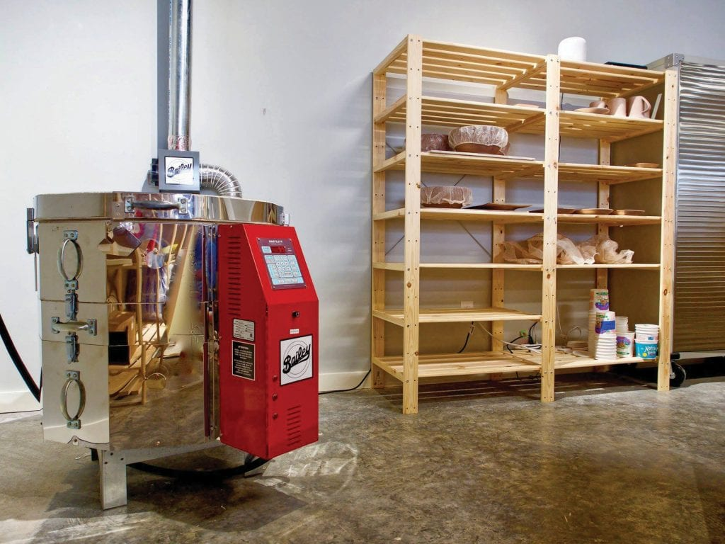 Shade & Shutter's in-house kiln allows Mark Klammer to fire his pieces at will. COURTESY PHOTO