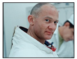 "Buzz Aldrin in the 2019 documentaryy ""Apollo 11"" from footage taken in 1969.69. COURTESY OF NEON CNNN FILMS"
