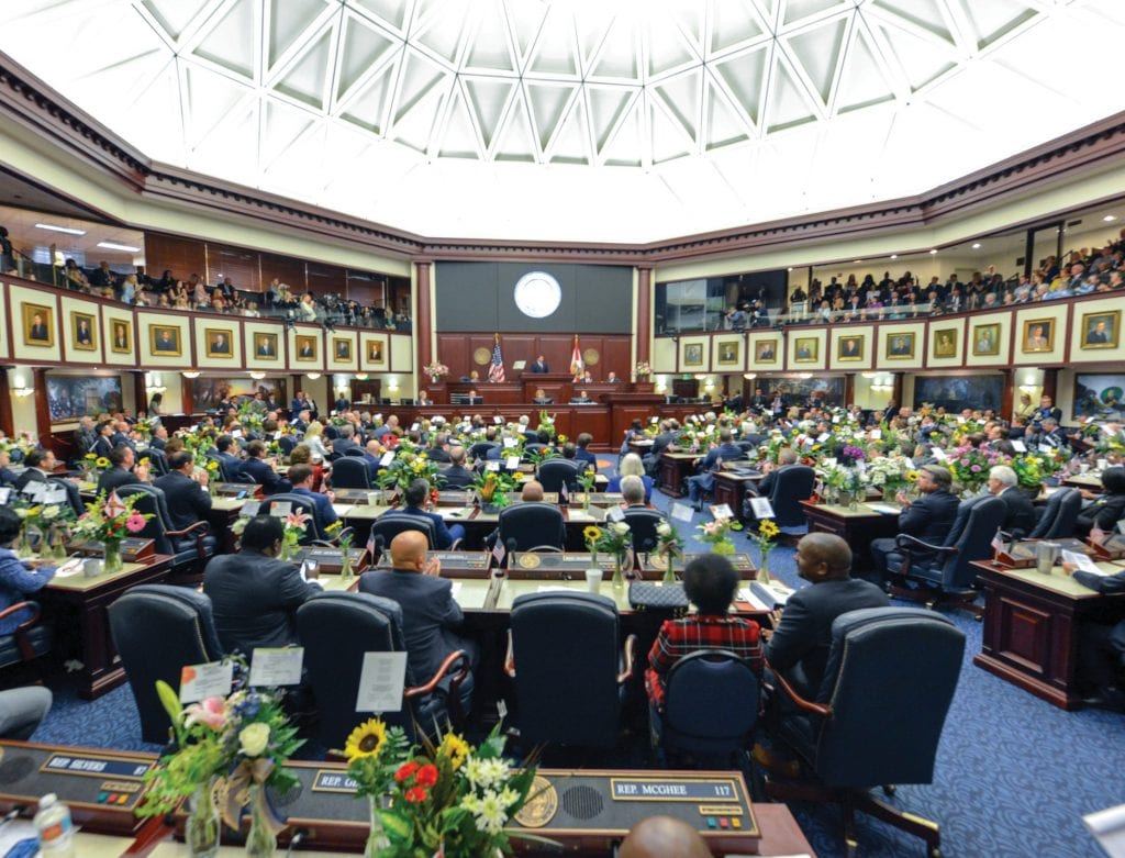 The State of the State address was made to a joint session of the Florida Legislature on March 3. FLGOV.COM