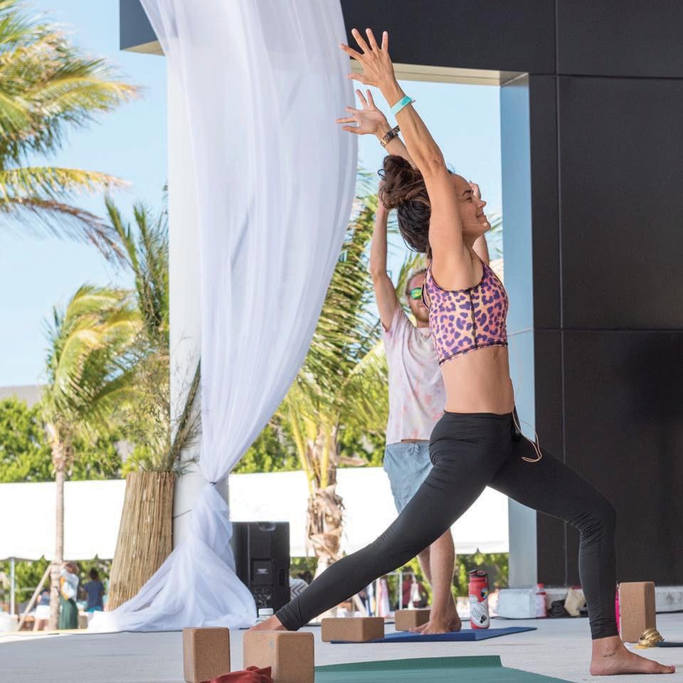 Local instructor Natalia Duke leads a yoga class at least year's festival. COURTESY PHOTO
