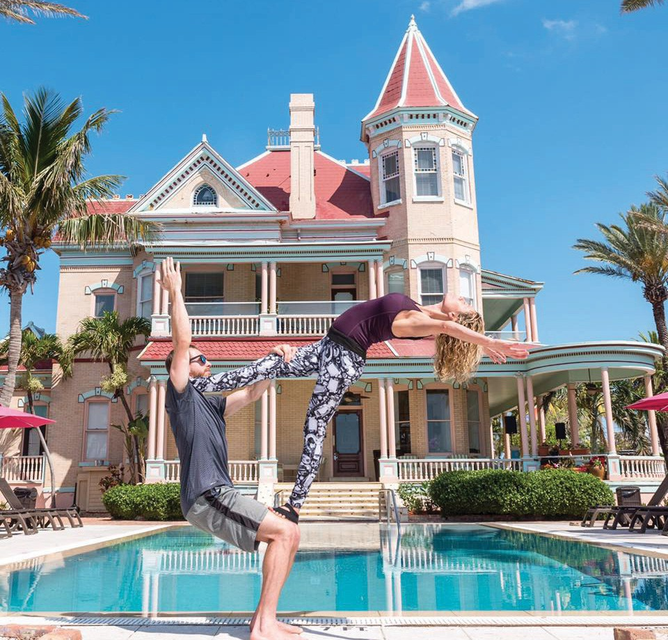 Find your perfect balance with the Southernmost House as a backdrop. COURTESY PHOTO