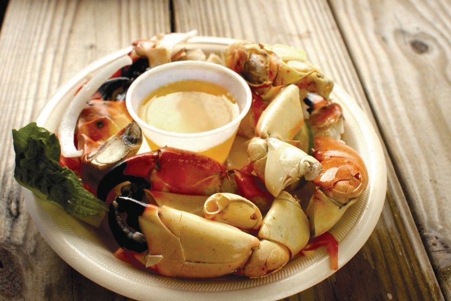You can't go wrong with Pinchers' stone crab claws.