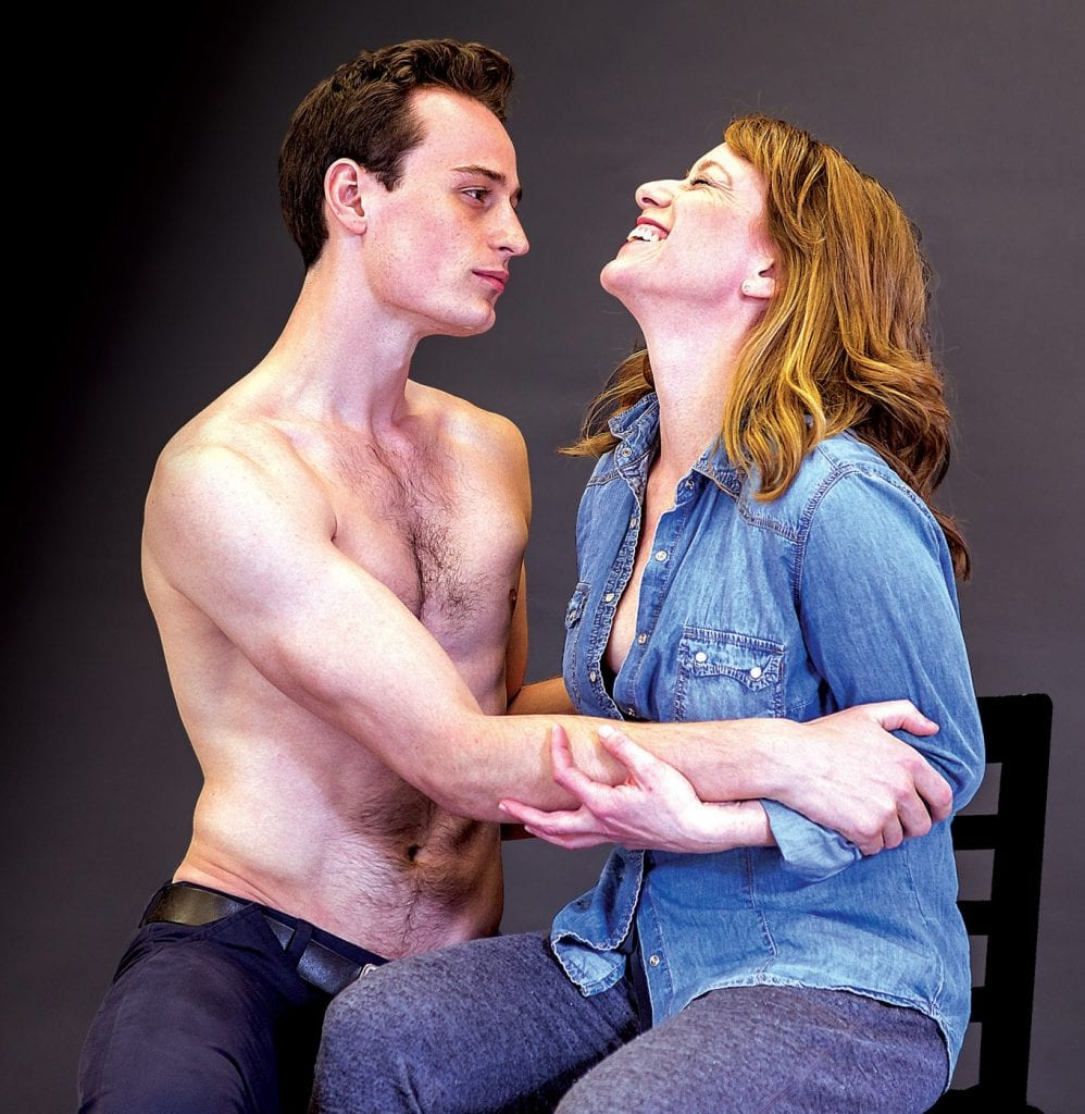 "Tim Torre and Melanie Keller star in ""Sex with Strangers"" at the Waterfront Playhouse."