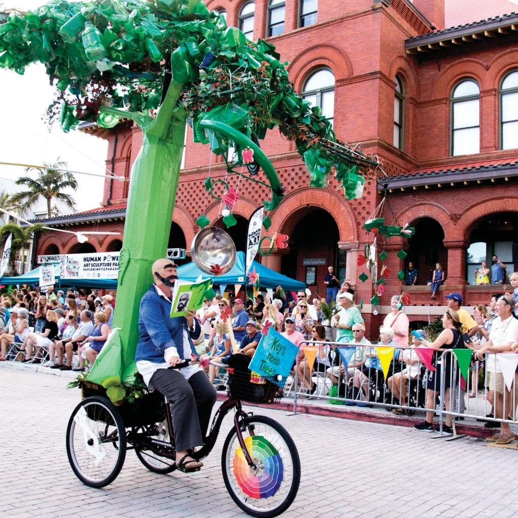 Frequent participant Suzanne Brown impersonated former Key West resident Shel Silverstein for last year's parade. CAROL TEDESCO / COURTESY PHOTO