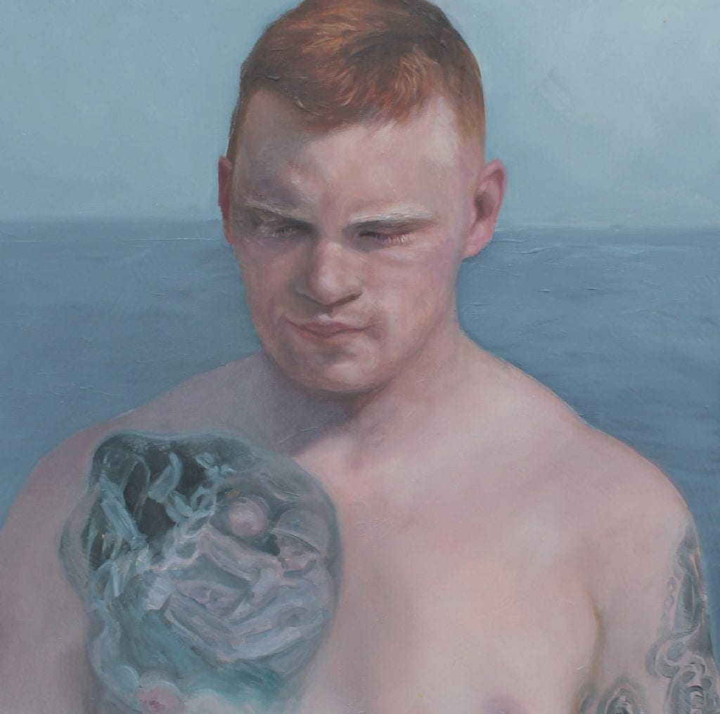 """A portrait from Alaina Plowdrey's """"Active Duty"""" exhibit, which is on display in the XOJ Gallery. COURTESY PHOTO"""