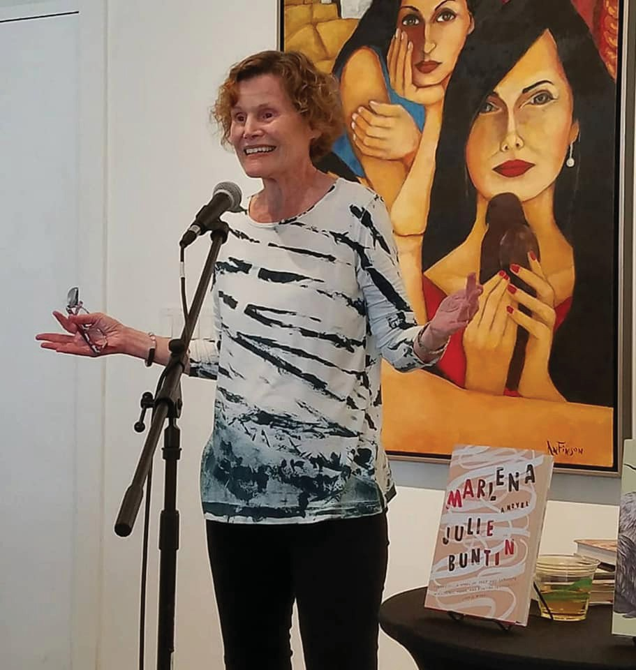 Judy Blume speaking at a reception at Books & Books @ The Studios of Key West.