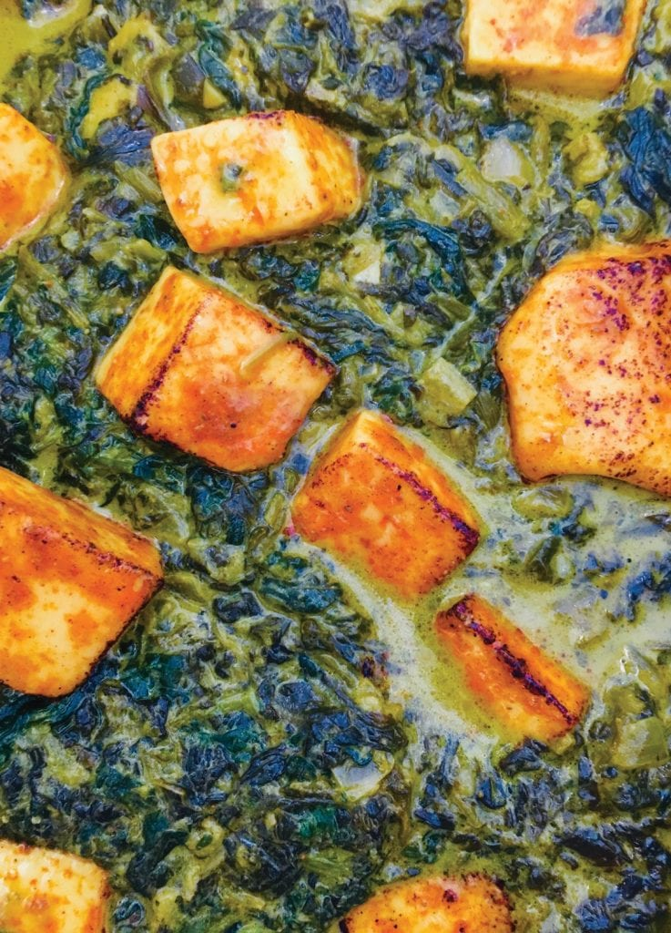 An up-close look at the Dahl House's saag paneer. COURTESY PHOTO