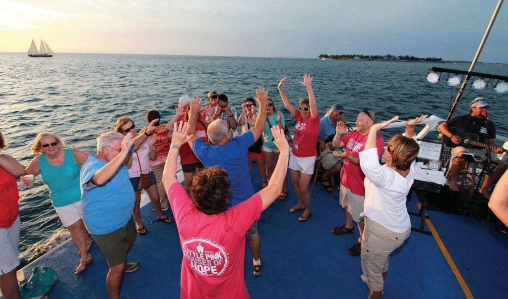 Little Pink Houses of Hope families cut loose on Fury's Commotion on the Ocean. COURTESY PHOTOS