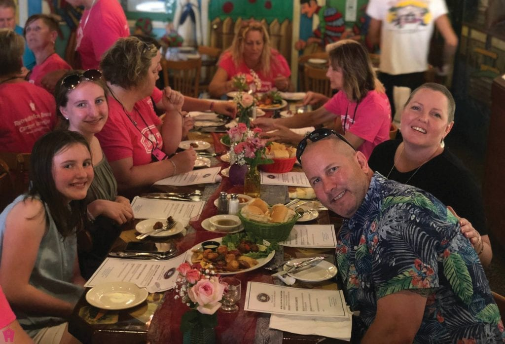 Dinner is provided every evening for Little Pink Houses of Hope participants.