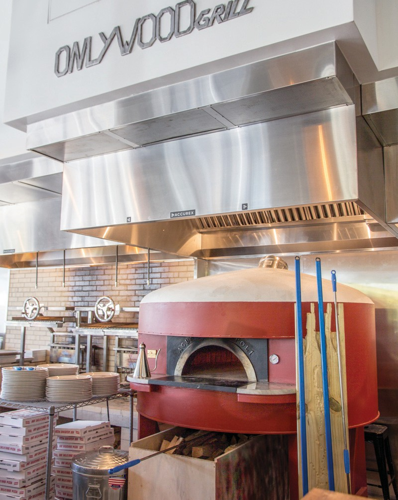 The pizza oven at Onlywood Grill is magical.