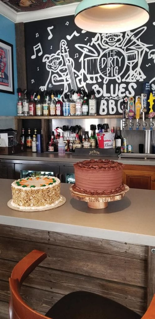 Homemade cakes at The Dirty Pig are worth saving room for.