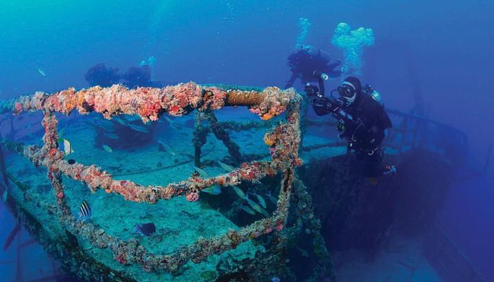 Dive the Vandenberg with Captain's Corner Dive Center. CAPTAIN'S CORNER / COURTESY PHOTO