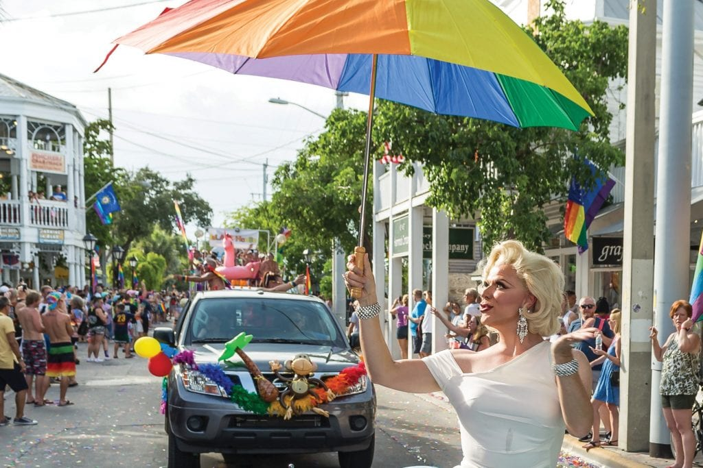 Marilyn Monroe (aka Christopher Peterson) walks the Pride parade route. COURTESY PHOTO