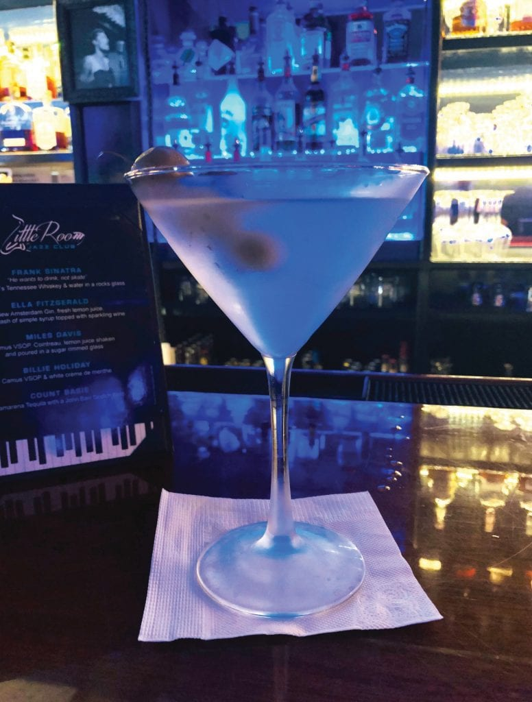 Little Room now has a full liquor license and is known for its martinis. COURTESY PHOTO