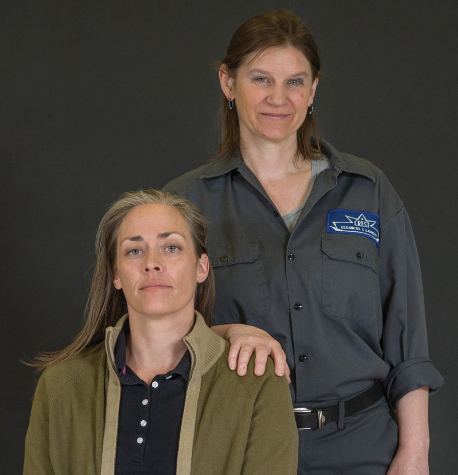 """Melody G. Moore, left, and Tammy Shanley star in """"The Sunset Limited,"""" a play written by author Cormac McCarthy, right. COURTESY PHOTO"""