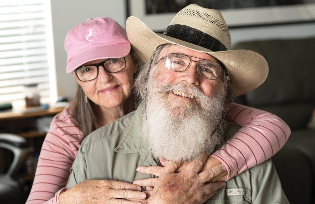 """Clyde and Niki Butcher have been married 55 years, """"a miracle,"""" Niki says. PHOTO COURTESY OF NIKI BUTCHER, JACKIE BUTCHER OBENDORF / CLYDE BUTCHER PHOTOGRAPHY"""