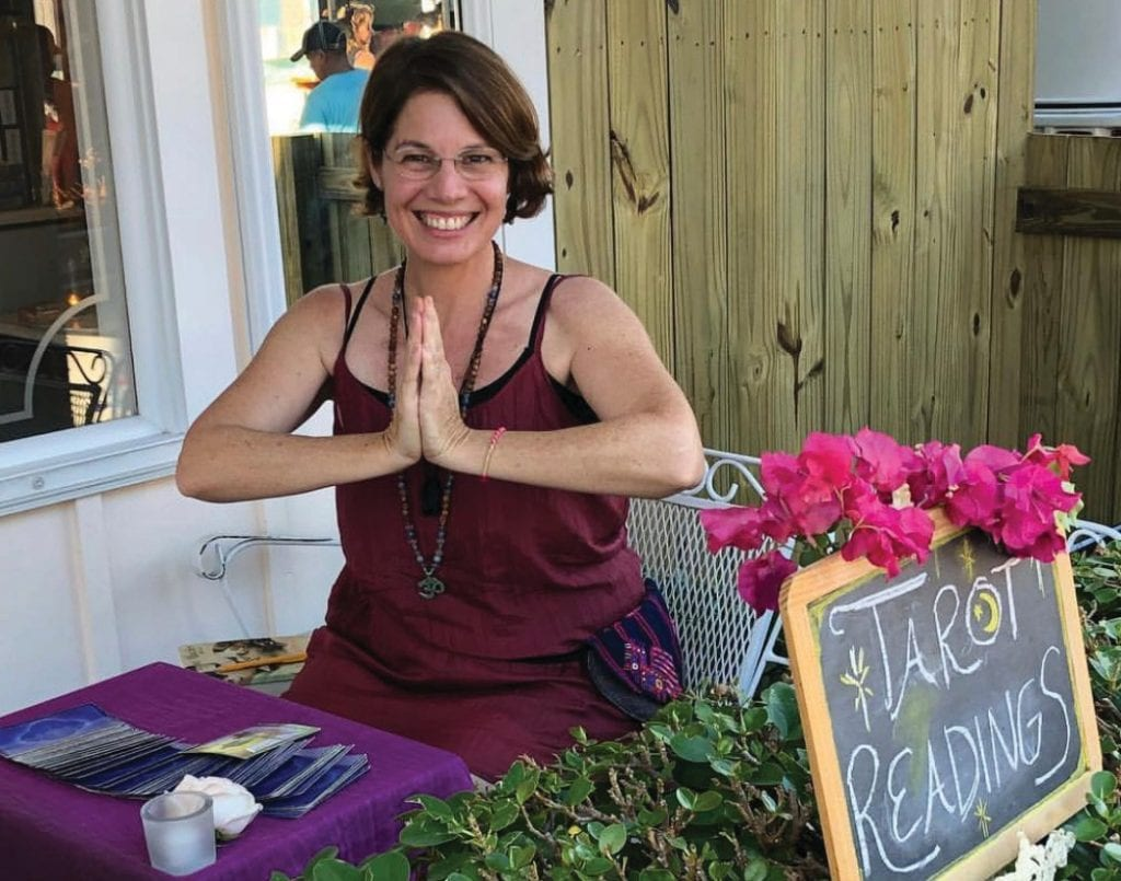 During sessions, Christina Cannell provides tools for those seeking answers by connecting to a higher self through meditation and tarot card interpretation. COURTESY PHOTO
