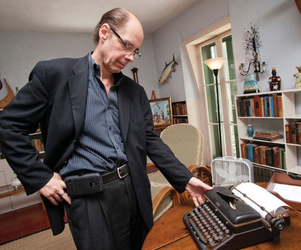 Jeffery Deaver checks out Ernest Hemingway's Key West writing room. PHOTO BY CAROL TEDESCO