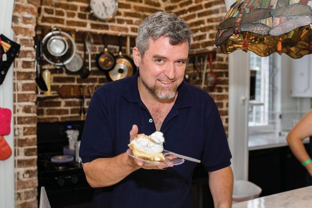Key lime lover and Fest co-creator David Sloan with a slice of his favorite pie. COURTESY PHOTO