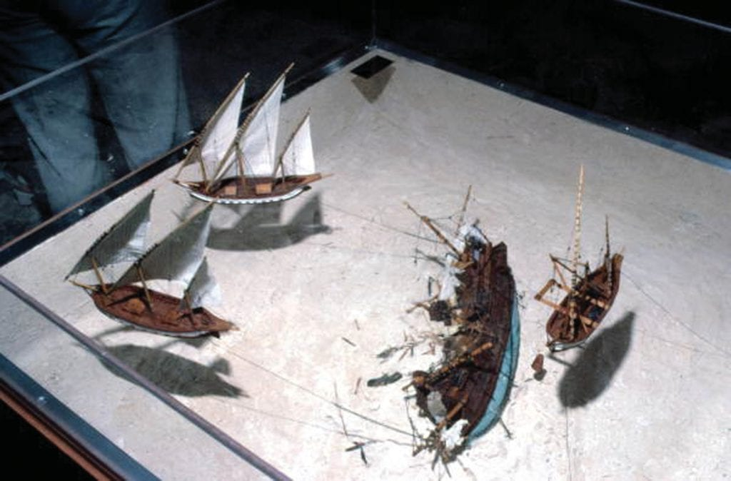 """The """"Treasure of the Atocha"""" wreck site diorama at the Mel Fisher Maritime Museum. STATE ARCHIVES OF FLORIDA, FLORIDA MEMORY"""